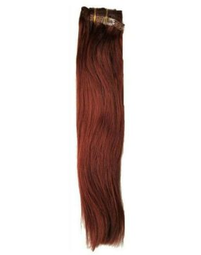 Cherry Red Clip-In Extensions
