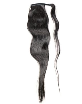 Black Ponytail Extensions Front